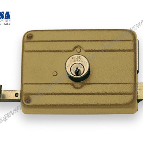 SERRATURA PORTONCINO SOVRAPPOSTA CATENACCIO+SCROCCO CILINDRO FISSO DA 120X88 mm. ENTRATA 60 prodotto da ICSA