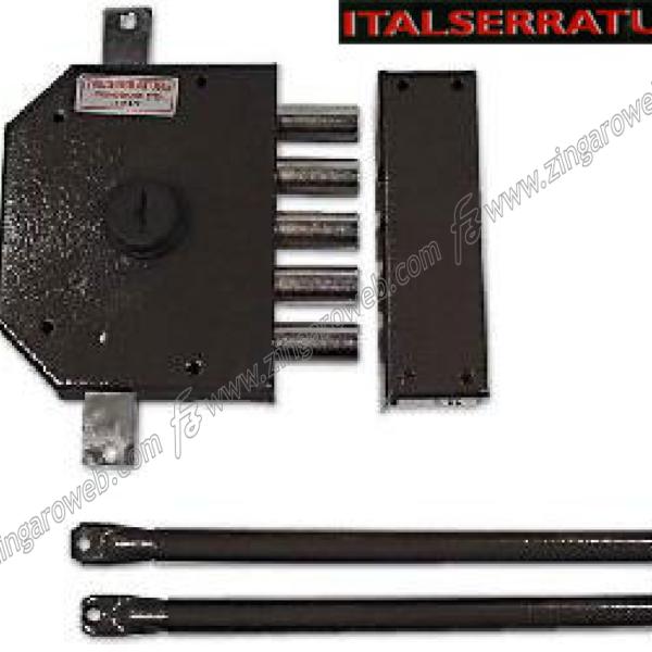 SERRATURA APPLICARE TRIPLICE POMPA SENZA SCROCCO COMPLETA DX prodotto da ITALSERRATURE
