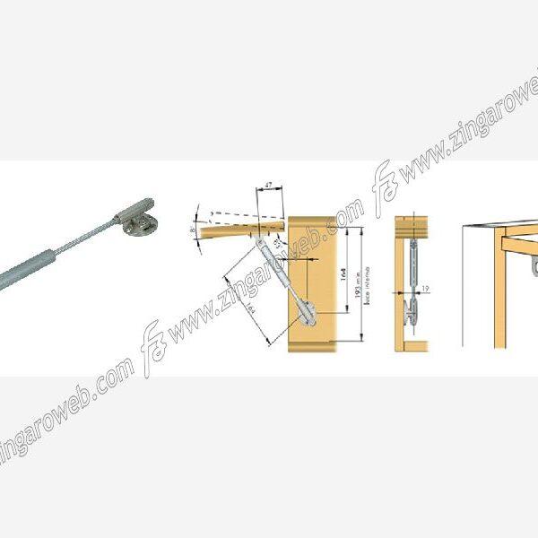 ASTA KRABY FRIZIONATA PER ANTA 164 mm. n90 BEIGE prodotto da FERRAMENTA LIVENZA