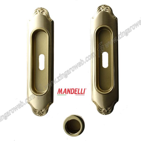 KIT MANIGLIA AD INCASSO 1028 CON FORO CHIAVE 03 ORO prodotto da MANDELLI