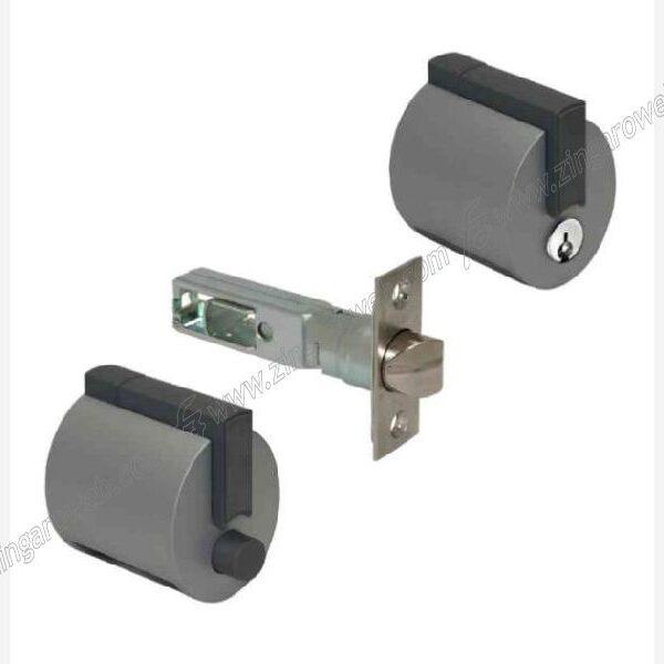 PREMIAPRI+SERRATURA FORMA A12 BOTTONE+CHIAVE VERNICIATO ENTRATA 60 mm. ARGENTO prodotto da MERONI