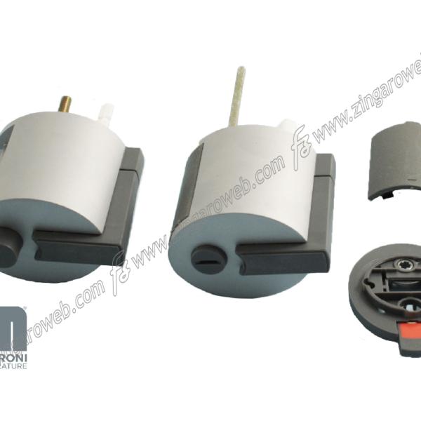 PREMIAPRI+SERRATURA FORMA A12 BOTTONE+SEGNALATORE ENTRATA 60 mm. NA - ARGENTO prodotto da MERONI