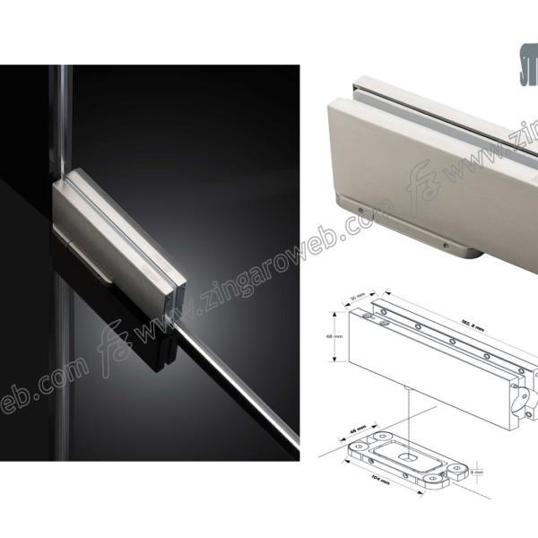 CERNIERA CHIUDIPORTA A PAVIMENTO FS880 PER VETRO mm.186x68x36h kg.100 prodotto da MERONI