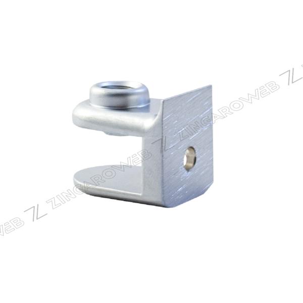 REGGIMENSOLA ZAMA L20xH21xD26 mm SPESSORE VETRO mm.6/10 CROMO OPACO prodotto da MITAL
