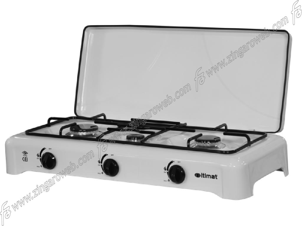 FORNELLO CON COPERCHIO A GAS/GPL METALLO 3 FUOCHI prodotto da ITIMAT