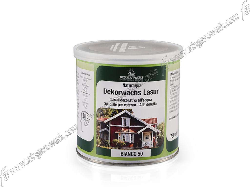 NATURAQUA DEKORWACHS LASUR FINITURA ALTOSOLIDO 750 ml. BIANCO prodotto da BORMAWACHS
