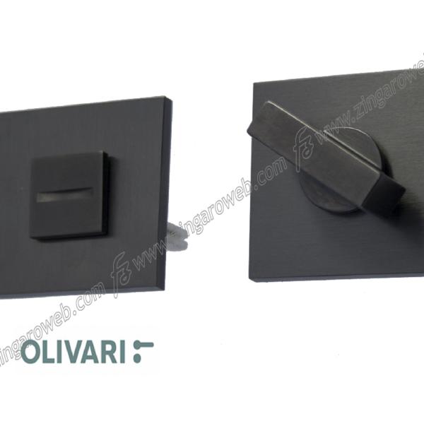 CHIAVISTELLO WC Q6 SPACE Q+CUBO S ROSETTA QUADRA d.51x51x5h US-SATINATO ANTRACIDE prodotto da OLIVARI