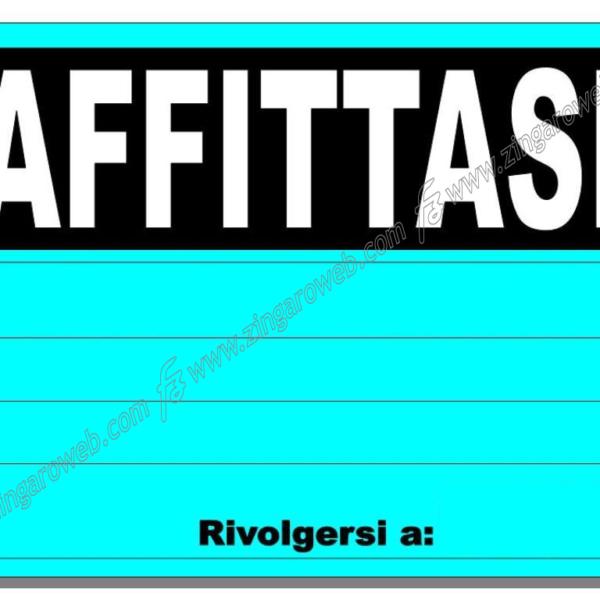 "CARTELLO FLUORESCENTE "" AFFITTASI"""
