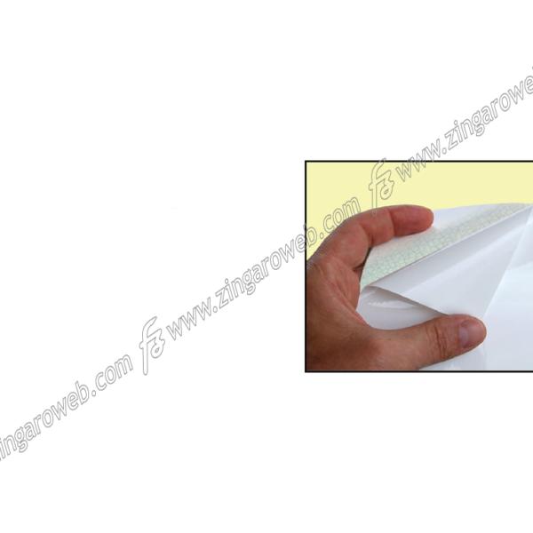 PLASTICA ADESIVA DA 67,5 cm. IN BIANCO OPACO