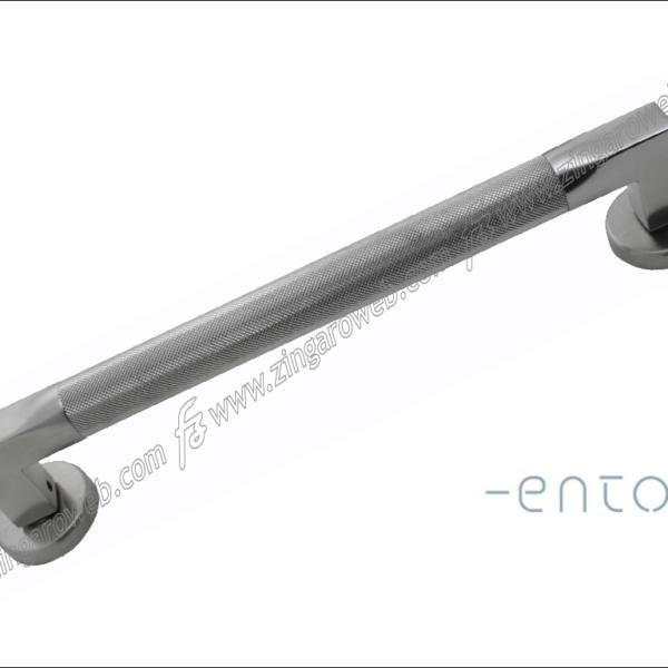MANIGLIONE TUBE INTERASSE 300 ECRS/Z CROMO SATINATO ZIGRINATO prodotto da ENTO