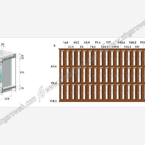 """CASSETTA POSTALE """"CLASSIC"""" VERTICALE DA 235x110x370 mm. LEGNO NOCE prodotto da RAVASI"""