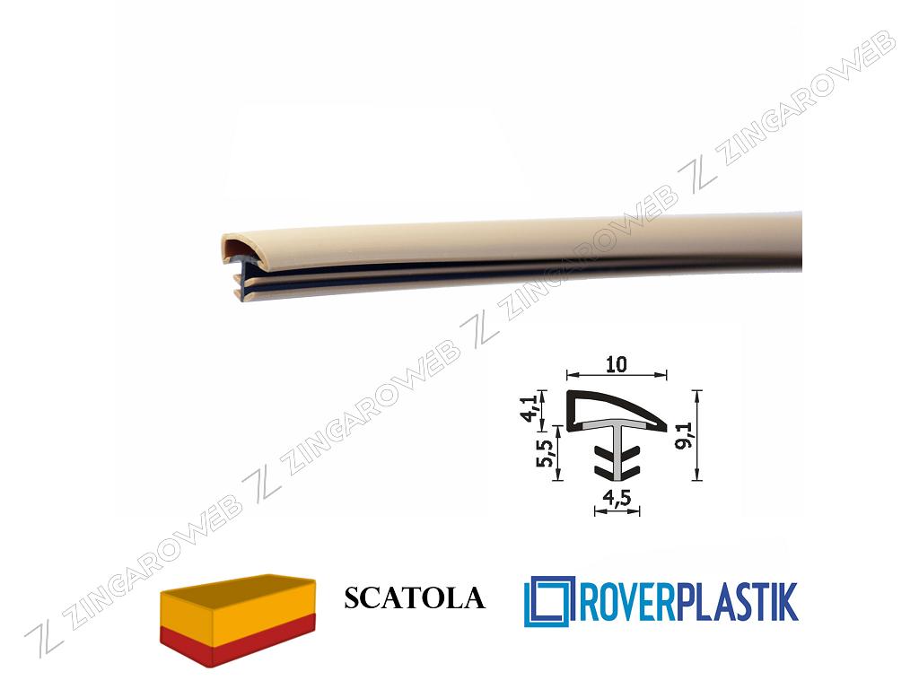 GUARNIZIONE PORTE INTERNE LEGNO SENZA PROTEZIONE DA 10x4,1 mm. prodotta da ROVERPLASTIK