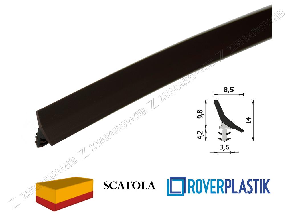 GUARNIZIONE PORTE INTERNE LEGNO SCORREVOLI SENZA PROTEZIONE DA 8,5x9,8 mm. prodotta da ROVERPLASTIK