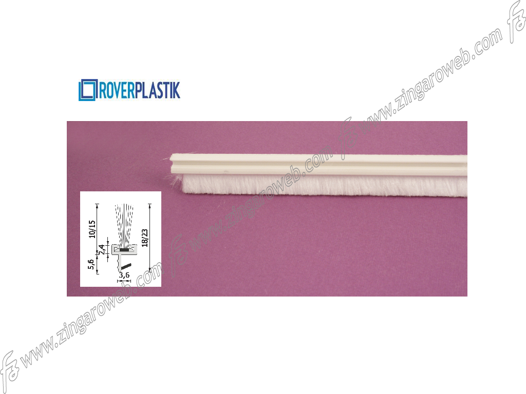 SPAZZOLINO PER PORTE INTERNE LEGNO DA 2600x10 mm. prodotto da ROVERPLASTIK
