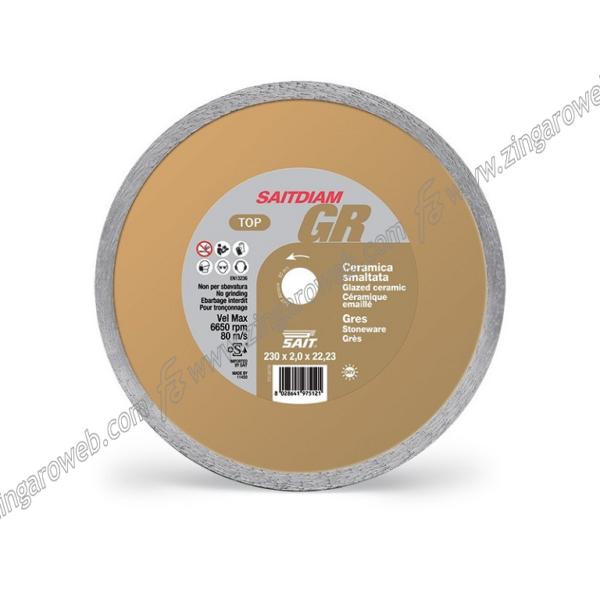 DISCO DIAMANTATO SAITDIAM GR- TD TOP TAGLIO CERAMICA GRES DA 115x1,6x22,23 mm. prodotto da SAIT
