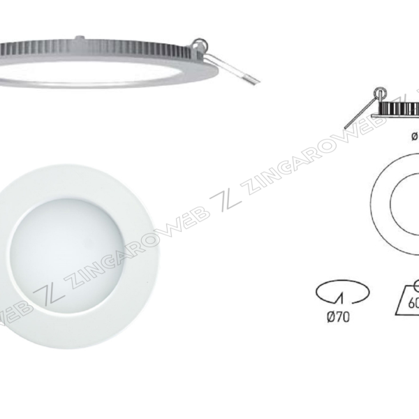 FARETTO INCASSO LED OSRAM AIRCOM MICRO IP44 8w 920lm 110º+DRIVER mm.82/70x25 4000K prodotto da SECOM