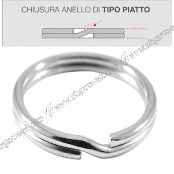ANELLO ACCIAIO PER CHIAVI NIKELATO m.12-16-20-25-30 Prodotto da SILCA