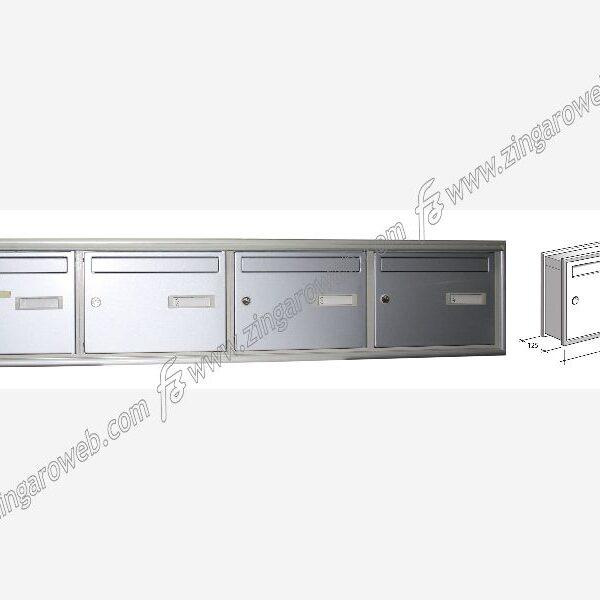 """CASSETTA POSTALE DA INCASSO PIATTA """"SC5/DP"""" DA 40x29x12,5 cm. SILVER prodotta da SILMEC"""