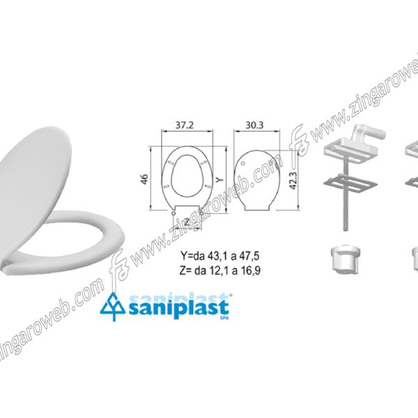"COPRIWATER TERMOINDURENTE ""Z2"" BIANCO DA 46x37,2x23 mm. prodotto da SANIPLAST"