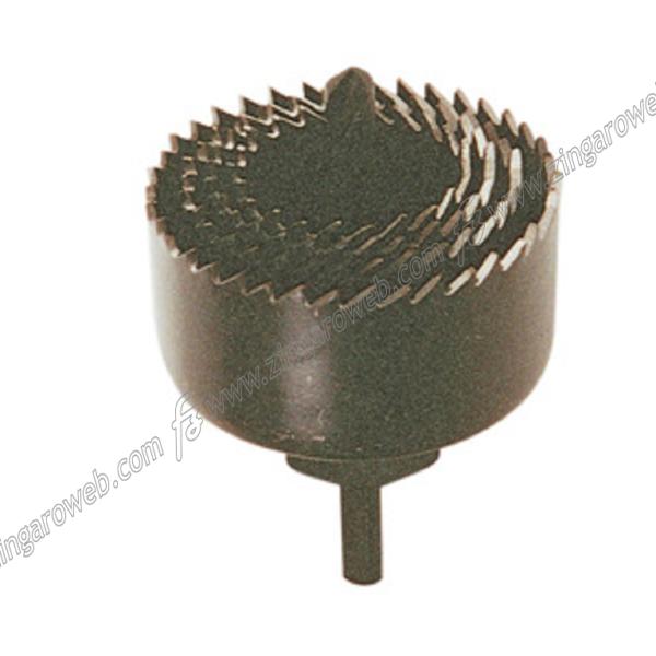 SEGA A TAZZA CON PUNTA CENTRALE DIAMETRO 32-38-45-54 mm.