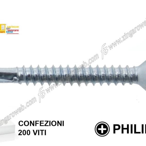 VITE AUTOPERFORANTE TC FALSA RONDELLA ZINCATA PH2 200-100 pz. mm.4,8 prodotto da TECFI
