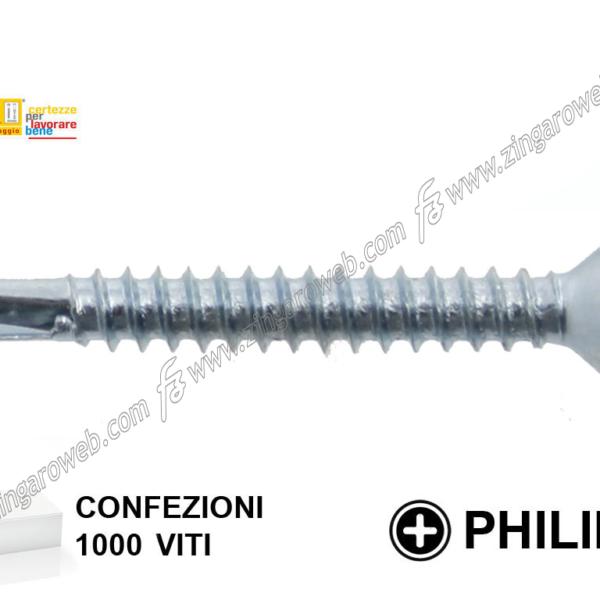 VITE AUTOPERFORANTE TSP PH2 ZINCATA 1000-500-200 pz. mm.3,9 prodotto da TECFI