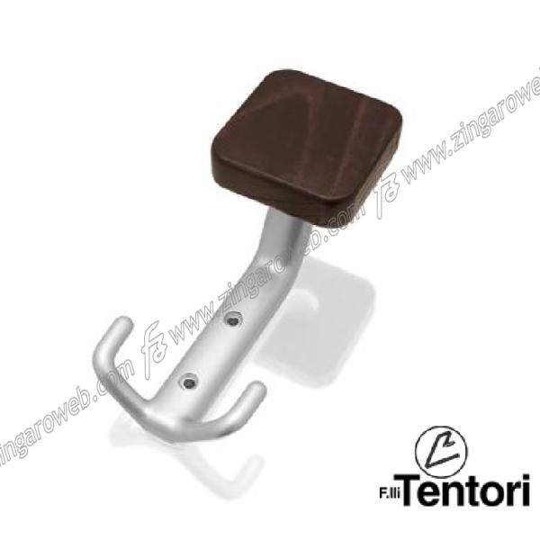 PORTABITO/APPENDIABITO MIU DA 58x137 mm. CROMO LUCIDO+LEGNO COLORE WENGE prodotto da TENTORI