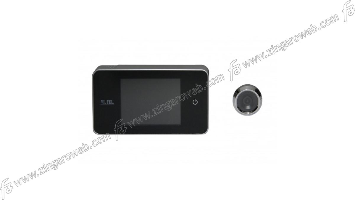 SPIONCINO DIGITALE PORTA SP.d.38-110 LCD mm.139x77x16 CROMO importato da VI.TEL
