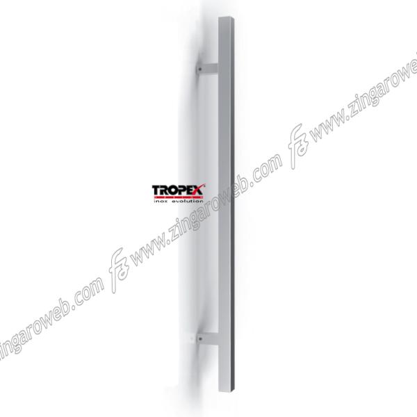 MANIGLIONE TORONTO QUADRO INTERASSE 500 DA 660x70 mm.INOX AISI304 SATINATO prodotto da REGUITTI INOX