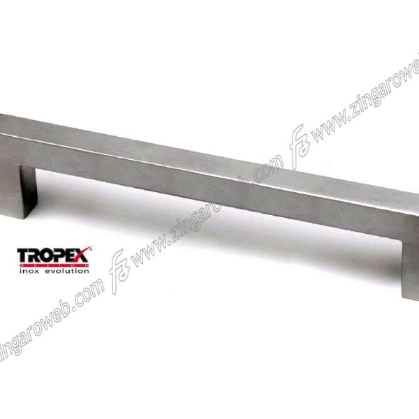MANIGLIONE QUADRO INTERASSE 450 DA 470x65 mm. INOX AISI304 SATINATO prodotto da REGUITTI INOX