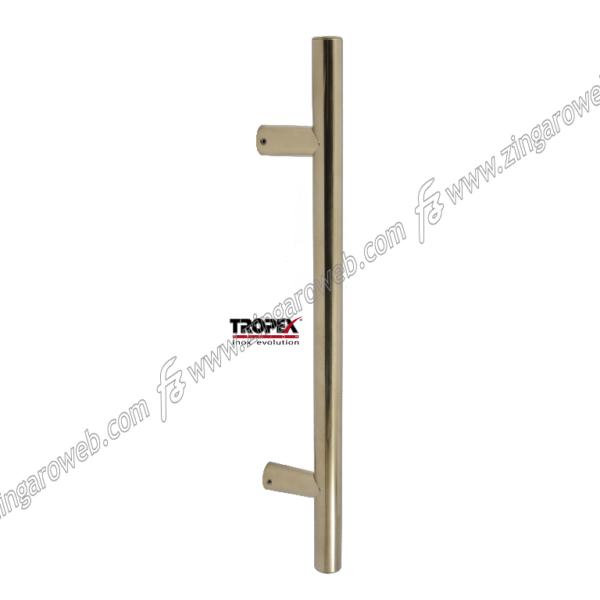 MANIGLIONE FRANKFURT DIRITTO INTERASSE 300 DA 460x65 mm. INOX AISI304 prodotto da REGUITTI INOX