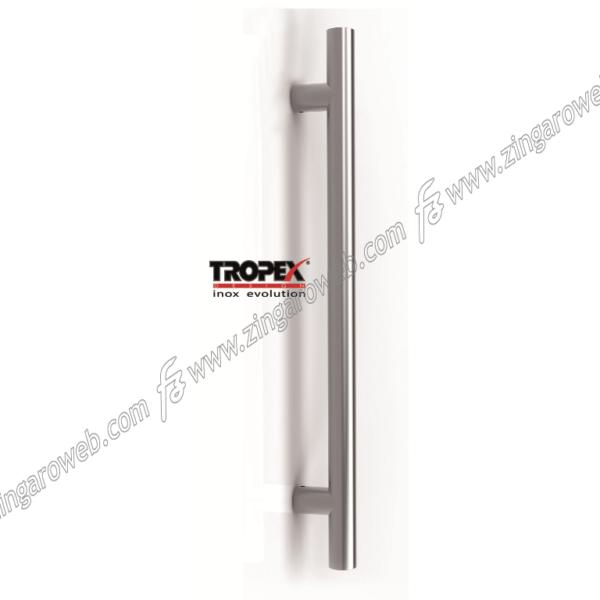 MANIGLIONE FRANKFURT DIRITTO INTERASSE 800 DA 960x65 mm. INOX AISI304 SATINATO prodotto da REGUITTI INOX