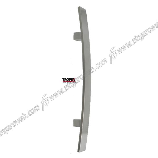 MANIGLIONE DALLAS RAGGIATO INTERASSE 600 DA 800x55 mm. INOX AISI304 LUCIDO prodotto da REGUITTI INOX