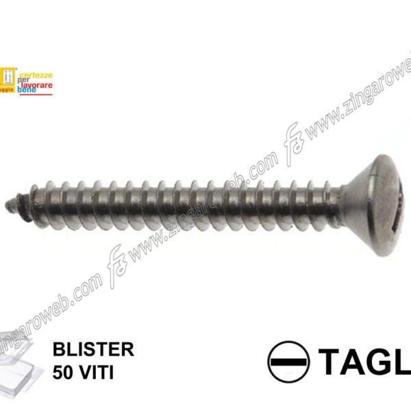 BLISTER VITE AUTOFILETTANTE TSC A TAGLIO NICHELATA 50 pz. mm.2,9x16 prodotto da KNIPPING