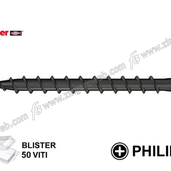 BLISTER VITE CARTONGESSO TSP CROCE PH2 FSN-TPD VN NERO 50 pz. mm.3,5 prodotto da FISCHER
