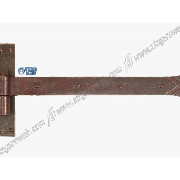 BANDELLA FORGIATO CARDINE LEGNO SPINA d.14 mm.30x400 RUGGINE prodotta da UTENSIL LEGNO