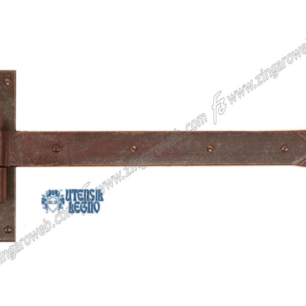 BANDELLA FORGIATO CARDINE LEGNO SPINA d.14 mm.30x300 RUGGINE prodotta da UTENSIL LEGNO