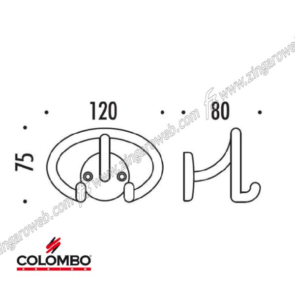 APPENDIABITO modello POLO mm.120x75 CR-CROMO prodotto da COLOMBO