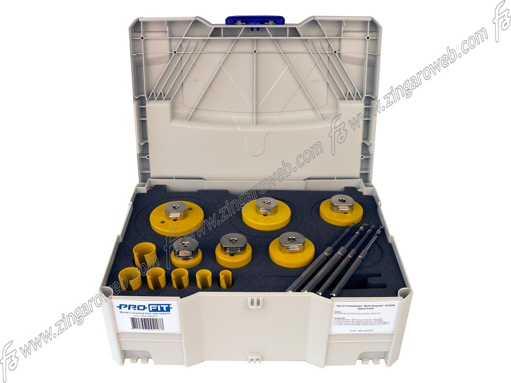 SET PROFIT SEGA A TAZZA C&D MULTI PURPOSE+ALBERI DIAMETRO 16-82 mm. 12 PEZZI prodotto da PROFIT ITALIA