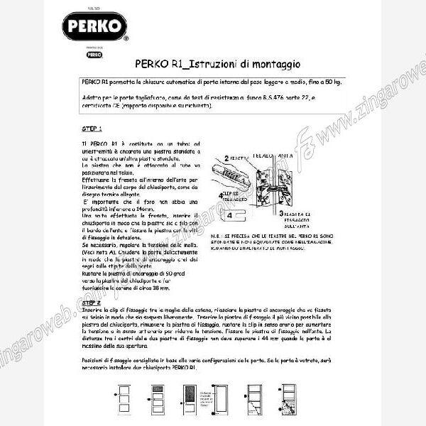 CHIUDIPORTA INVISIBILE A CATENA PORTATAd.22x150 kg.50 PERKO R1 CROMO
