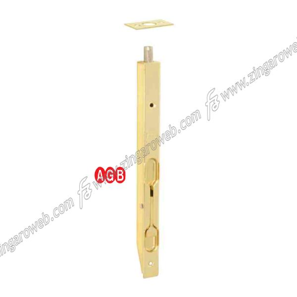 CATENACCIO INCASSO A LEVA FRONTALE DA 16 mm. AOV-OTTONATO prodotto da AGB