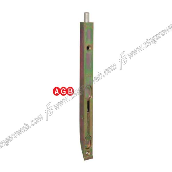 CATENACCIO INCASSO A LEVA PESANTE FRONTALE mm.20 ZZT-ZINCO TROPICAL prodotto da AGB