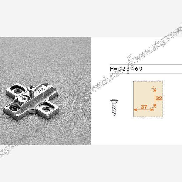 BASETTA CROCE ZAMA REGOLAZIONE VERTICALE DA 32x37 mm. H:00-03 mm. prodotto da ARTURO SALICE