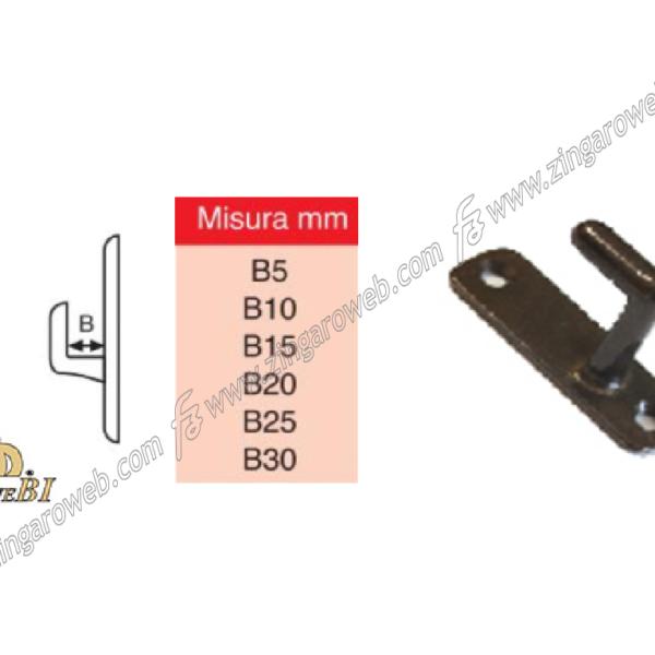 INCONTRO TAVELLINO OTTONE BRONZATO mm.5-10-15-20-25-30 prodotto da BIENNEBI