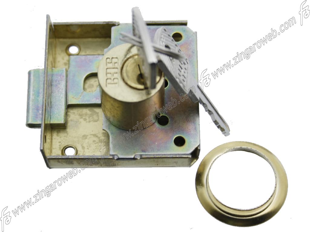 SERRATURA 1/2 SCATOLA+CILINDRO DIAMETRO 20 mm. LUNGHEZZA 20 mm. SOVRAPPOSTA ENTRATA 20-60 mm. prodotta da CAS/MERONI