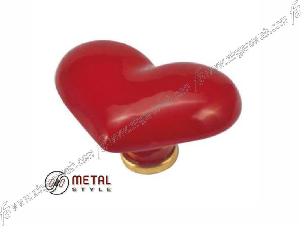 POMOLINO MOBILE PORCELLANA CUORE DA 39x49x30 mm. ORO LUCIDO prodotto da METAL STYLE