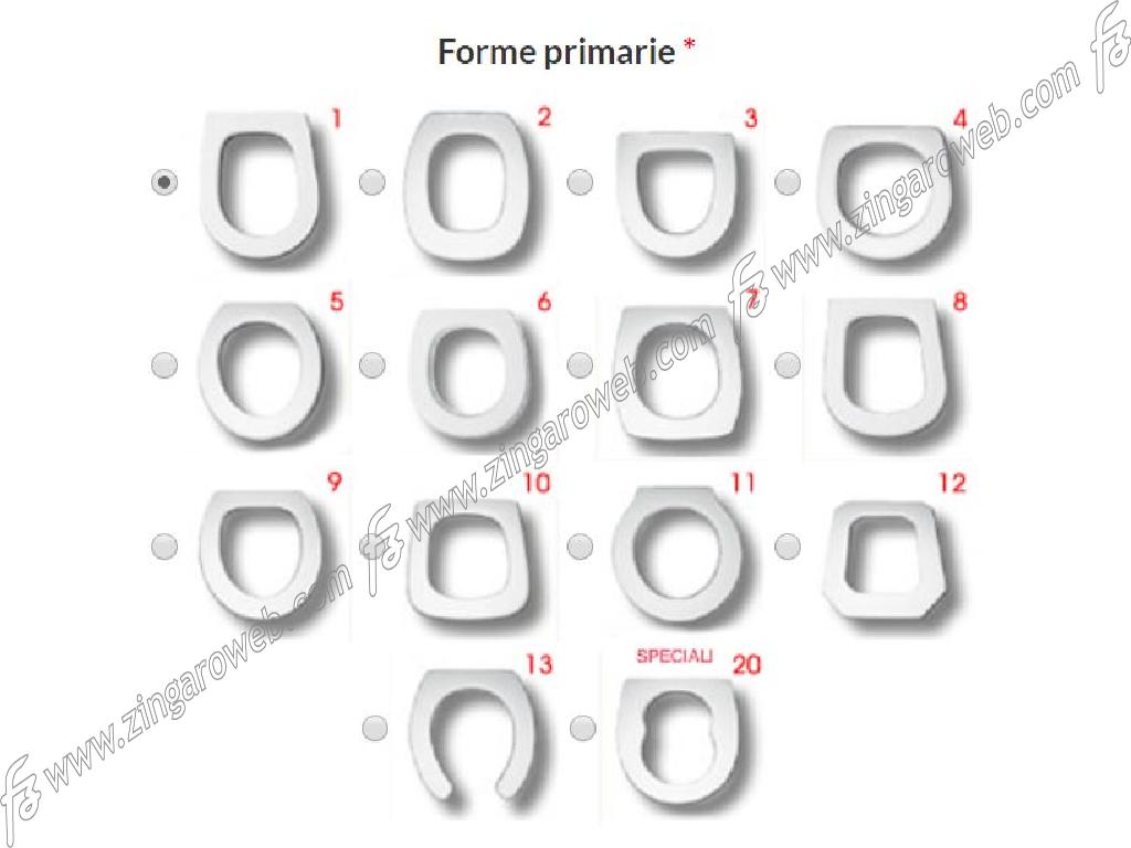 """COPRIWATER UNIVERSALE """"EASYFIT"""" CERNIERE RALLENTATE INOX SGANCIABILI DA 458x369 mm. importato da MI.TO"""